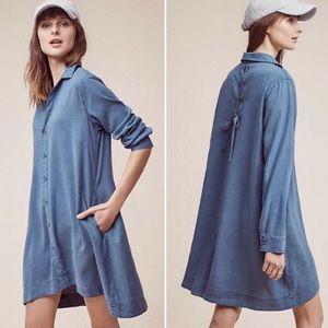NWT Cloth & Stone Farryn Tencel Lace Up Dress